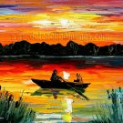 Modern impressionism palette knife oil painting on canvas kp088