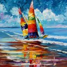 Modern impressionism palette knife oil painting on canvas kp097