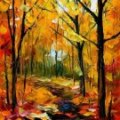 Modern impressionism palette knife oil painting on canvas kp098