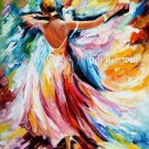 Modern impressionism palette knife oil painting on canvas kp099