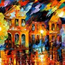 Modern impressionism palette knife oil painting on canvas kp105