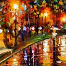 Modern impressionism palette knife oil painting on canvas kp107