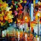 Modern impressionism palette knife oil painting on canvas kp112