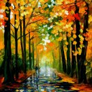 Modern impressionism palette knife oil painting on canvas kp113