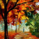 Modern impressionism palette knife oil painting on canvas kp114