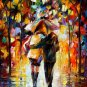 Modern impressionism palette knife oil painting on canvas kp116