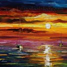 Modern impressionism palette knife oil painting on canvas kp117