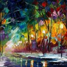 Modern impressionism palette knife oil painting on canvas kp118
