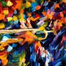 Modern impressionism palette knife oil painting on canvas kp119