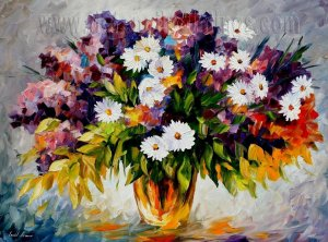 Modern impressionism palette knife oil painting on canvas kp125