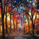 Modern impressionism palette knife oil painting on canvas kp127