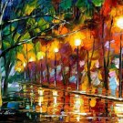 Modern impressionism palette knife oil painting on canvas kp128