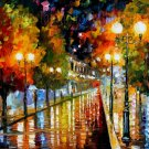 Modern impressionism palette knife oil painting on canvas kp130