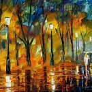 Modern impressionism palette knife oil painting on canvas kp132