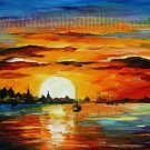 Modern impressionism palette knife oil painting on canvas kp139