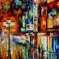 Modern impressionism palette knife oil painting on canvas kp140