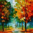 Modern impressionism palette knife oil painting on canvas kp143
