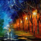 Modern impressionism palette knife oil painting on canvas kp144