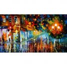 Modern impressionism palette knife oil painting on canvas kp152