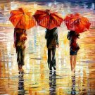 Modern impressionism palette knife oil painting on canvas kp153