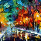 Modern impressionism palette knife oil painting on canvas kp155