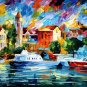 Modern impressionism palette knife oil painting on canvas kp157