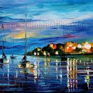 Modern impressionism palette knife oil painting on canvas kp159