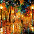 Modern impressionism palette knife oil painting on canvas kp161