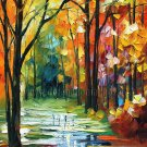 Modern impressionism palette knife oil painting on canvas kp162
