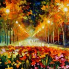 Modern impressionism palette knife oil painting on canvas kp163