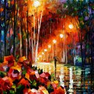 Modern impressionism palette knife oil painting on canvas kp164