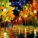 Modern impressionism palette knife oil painting on canvas kp165