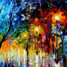Modern impressionism palette knife oil painting on canvas kp172