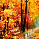 Modern impressionism palette knife oil painting on canvas kp174