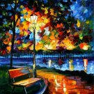 Modern impressionism palette knife oil painting on canvas kp178