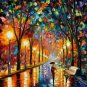 Modern impressionism palette knife oil painting on canvas kp180