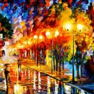 Modern impressionism palette knife oil painting on canvas kp186