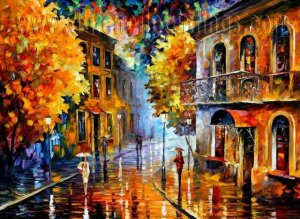 Modern impressionism palette knife oil painting on canvas kp189