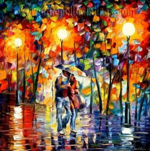 Modern impressionism palette knife oil painting on canvas kp190
