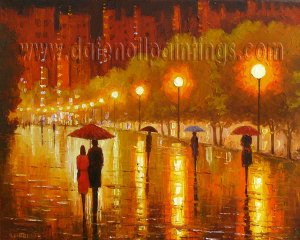 Modern impressionism palette knife oil painting on canvas kp192