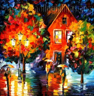 Modern impressionism palette knife oil painting on canvas kp194