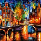 Modern impressionism palette knife oil painting on canvas kp195