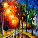 Modern impressionism palette knife oil painting on canvas kp196