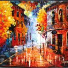 Modern impressionism palette knife oil painting on canvas kp199