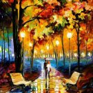 Modern impressionism palette knife oil painting on canvas kp202