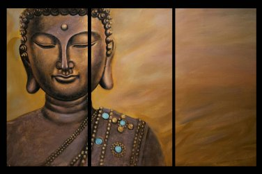 Contemporary zen art Buddha oil painting Buddha014
