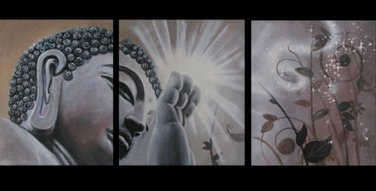 Contemporary zen art Buddha oil painting Buddha015