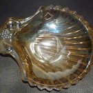 VINTAGE PEACH LUSTER SEA SHELL ANCHIR HOCKINGS CANDY NUT SERVING DISH FRUITS