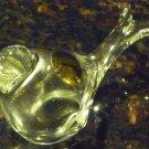 VINTAGE PHEASANT BIRD FIGURINE 24% CRYSTAL GLASS POLAND