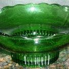STUNNING VINTAGE E.O. BRODY GREEN GLASS PEDESTAL VASE CLEVELAND 12000